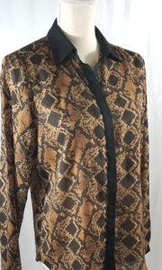 ZARA Long Sleeved Animal Print Blouse. Sz M